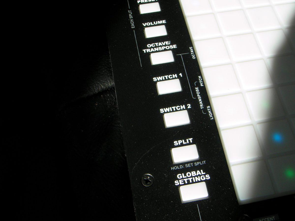 LinnStrument function buttons