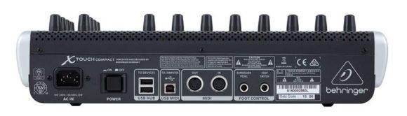Der X-Touch Compact verfügt sowohl über USB- als auch MIDI-Anschlüsse