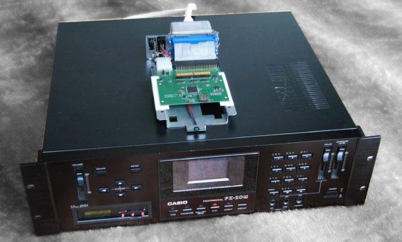 FZ20M von swissdoc mit Floppy-Emulator und externem SCSI2SD-Board