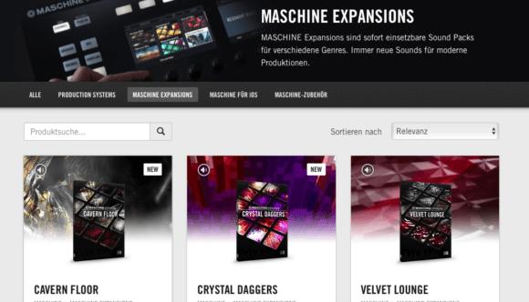 NI Maschine bietet eine Reihe sogenannter Expansions zur Sounderweiterung.
