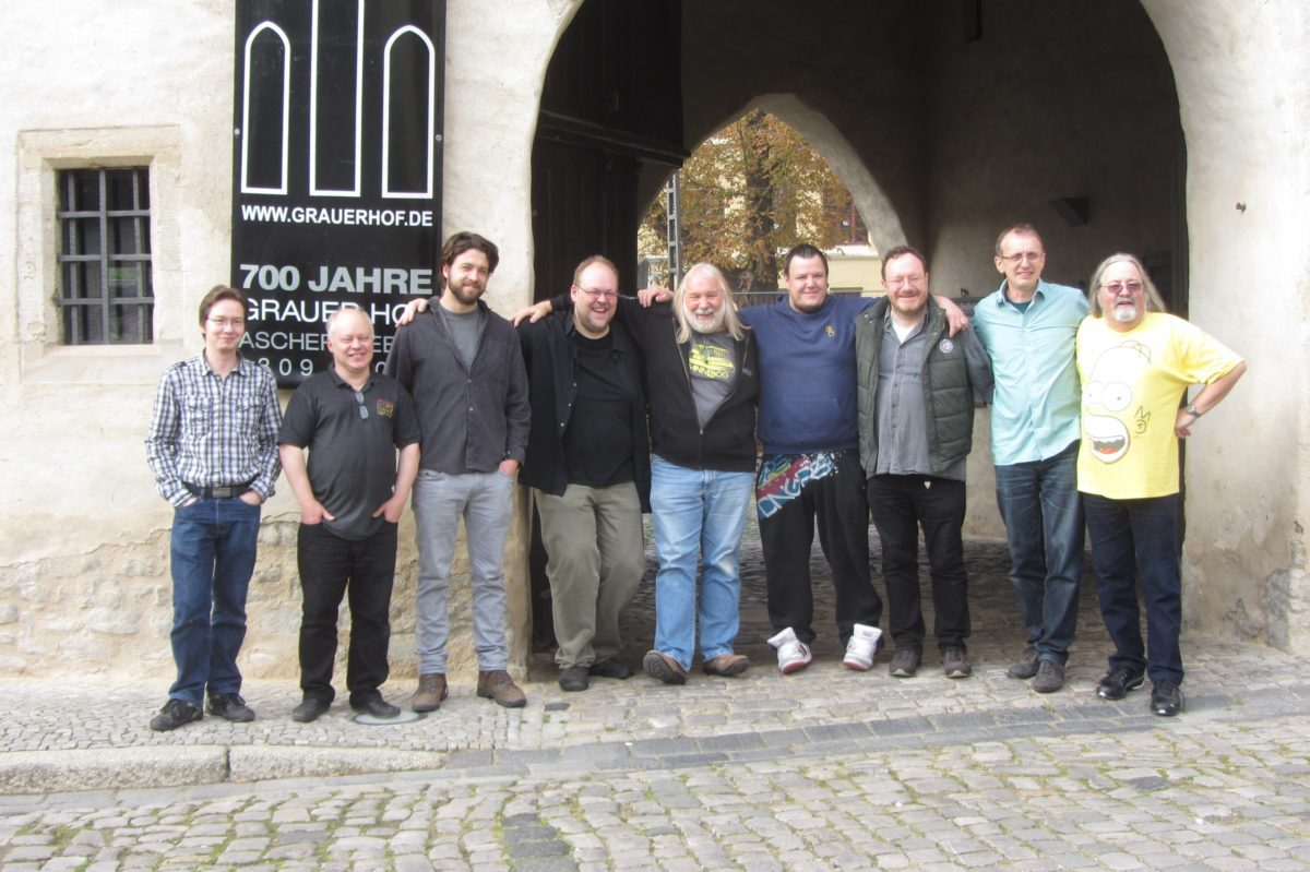 v.L.n.R: Tobias Knebel, Steffen Marienberg, Daniel Brockmann, Holger Marienberg, Bernd Michael land, Michael Oostwald, Bert Marx, Michael Kastl, Lutz Bojasch