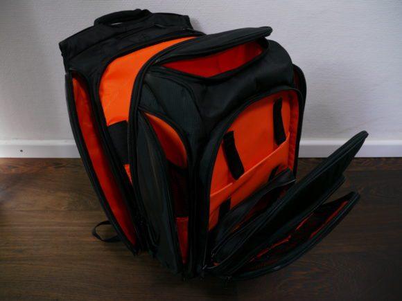 UDG Digi Backpack im Detail – links an der Seite der Zugang zum Laptopfach