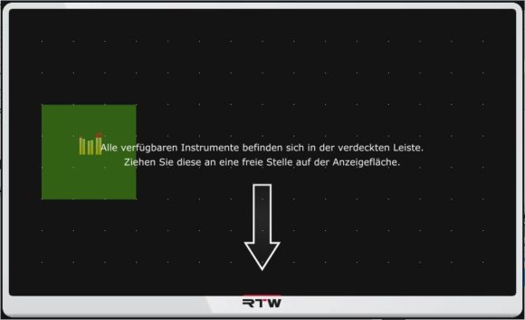 Freies Platzieren der einzelnen Tools (grün) ist möglich.