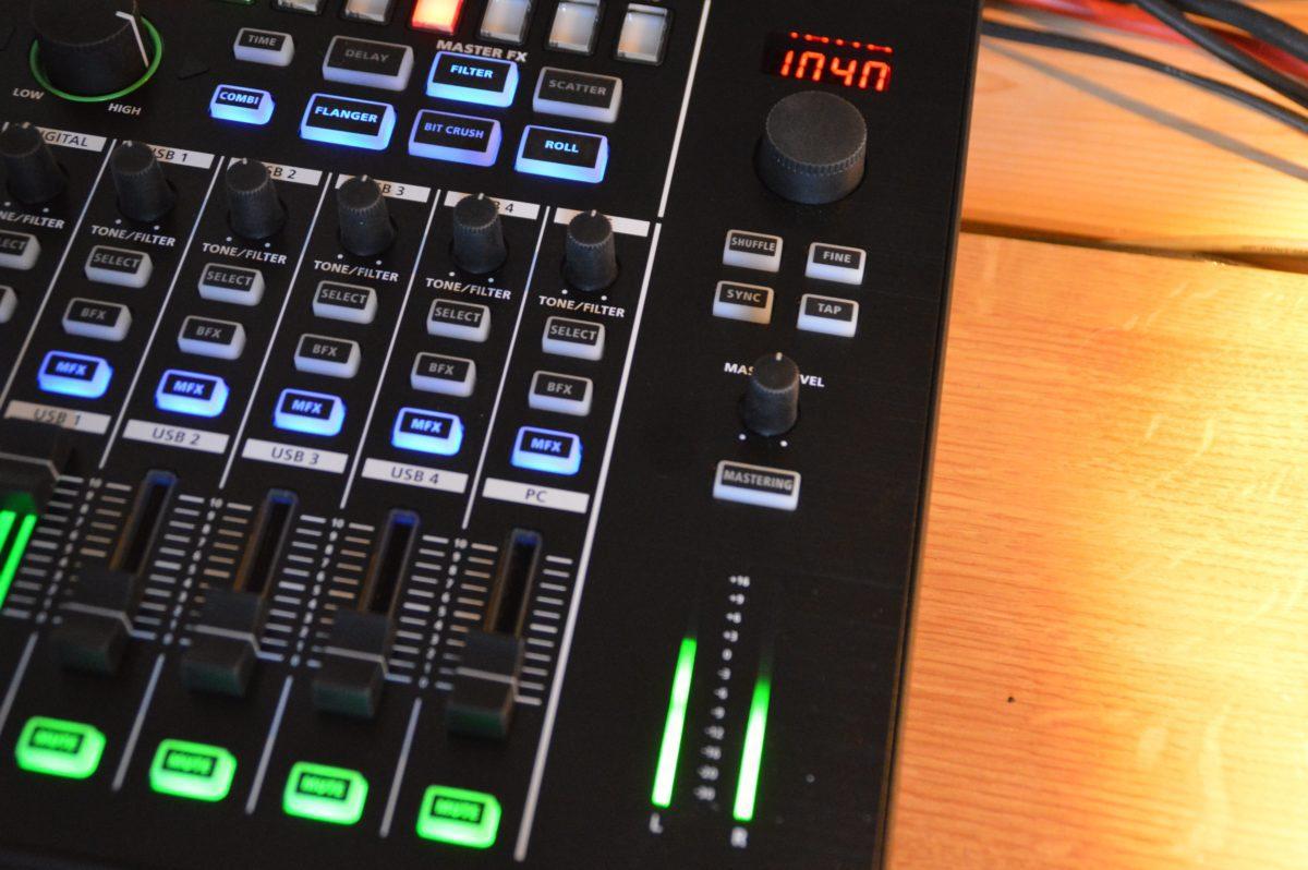 Die Mastersektion bietete auch Shuffle für die MIDI-Clock.