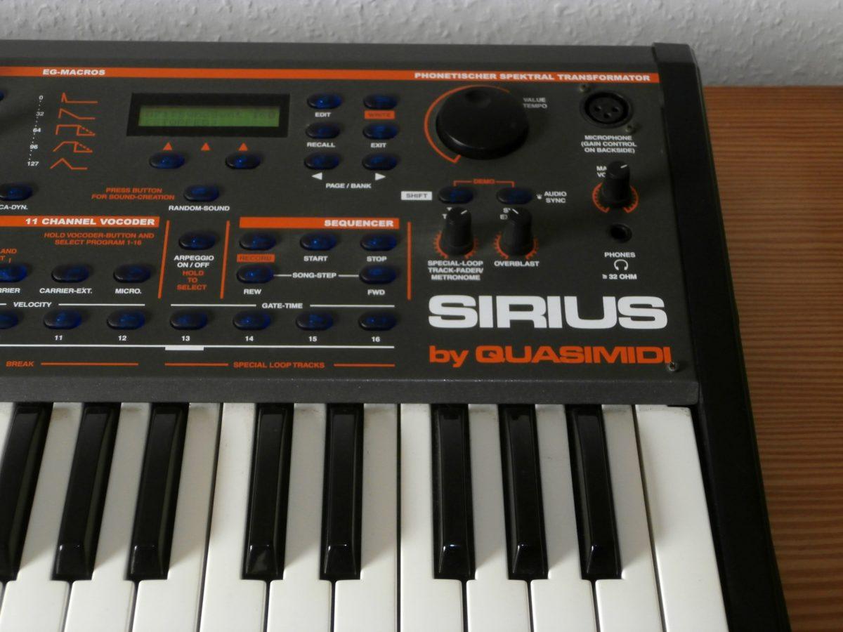 Sirius Sequencer-Panel