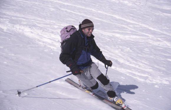 Florian beim Telemarken (Foto: Luidger)