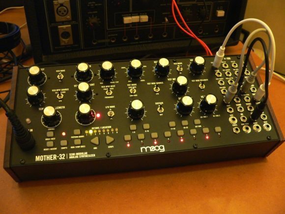 Moog Mother-32 patched