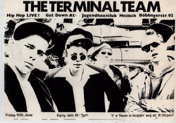 """Damals nannten sie sich noch """"The Terminal Team"""": ein Konzertplakat aus der Frühphase der Fantas."""