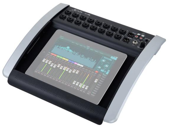 Behringer X18 - Front mit Tablet