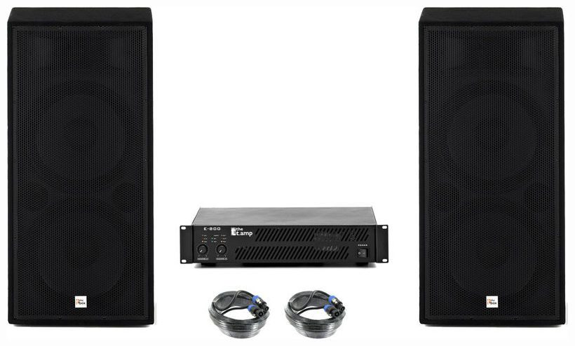 test the box pa 252 eco mkii e800 set aktivboxen. Black Bedroom Furniture Sets. Home Design Ideas
