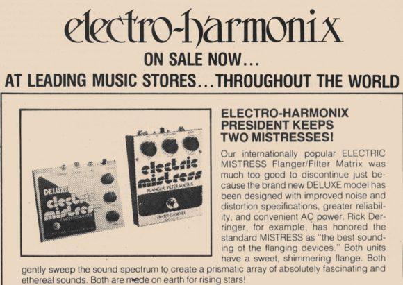 Electro Harmonix Werbung aus den 70ern