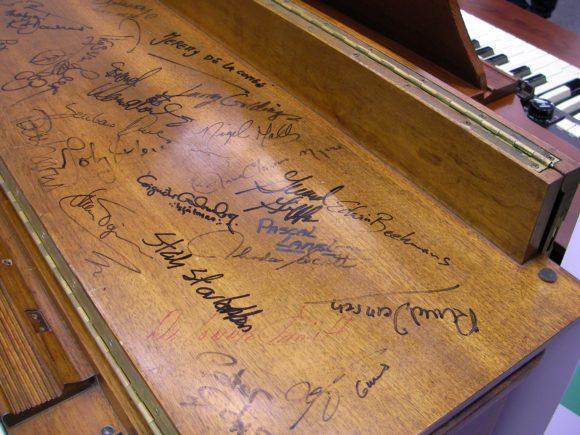 Hammond B3 Autogramme