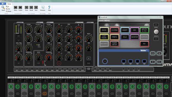 Im Offline-Editor können alle Bedienelemnte wie am echten Mixer bedient werden.