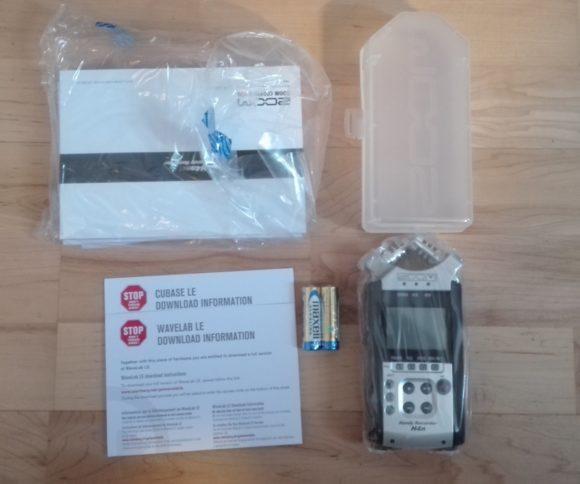 Mit Case, Cubase- und Wavelab LE: Zoom H4n SP