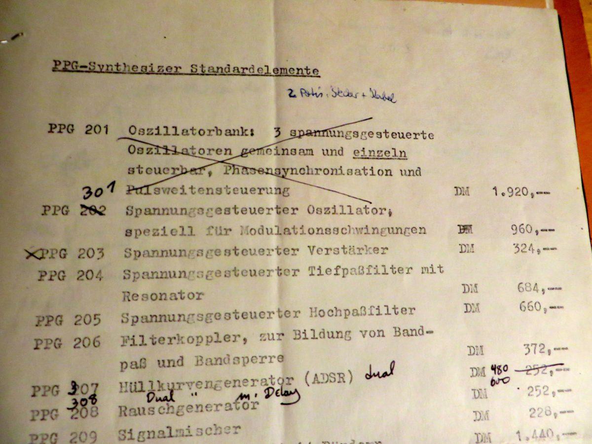 Änderungen vorbehalten: PPG-Preisliste Mitte der 70er Jahre