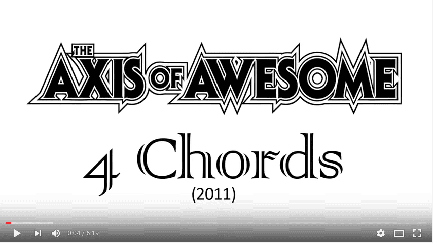 Chords for Axis of Awesome - 4 Four Chord Song (with song ...