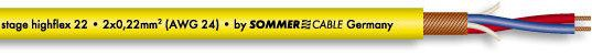 Sommer Cable Stage 22 Highflex gelb