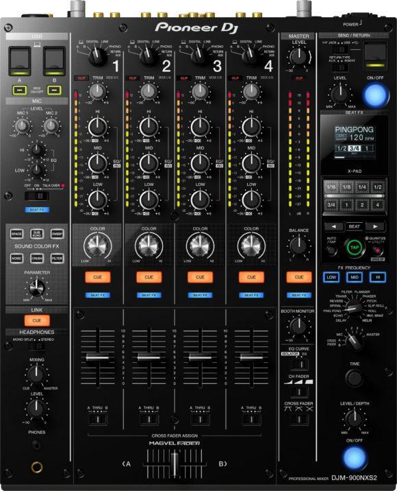 Bild mit der Draufsicht auf den DJM 900 NXS2