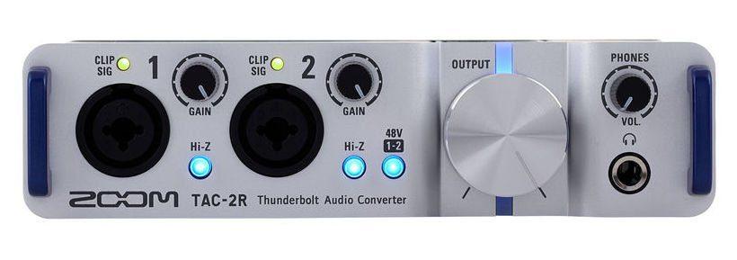 test zoom tac 2r thunderbolt audiointerface seite 2 von 3. Black Bedroom Furniture Sets. Home Design Ideas