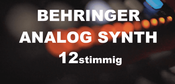 Auf Behringer Analogsynthesizer