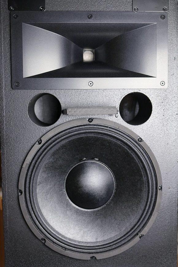 Der Blick auf dei Schallwand