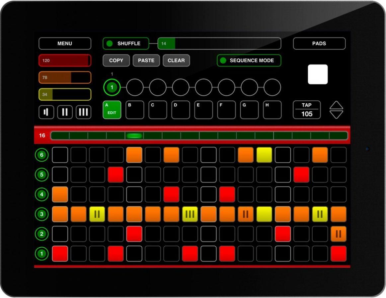 Die Nord Beat App fürs iPad