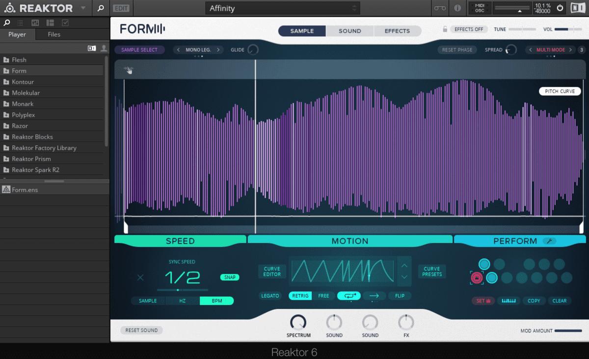 Form, der neue Synth in KOMPLETE 11