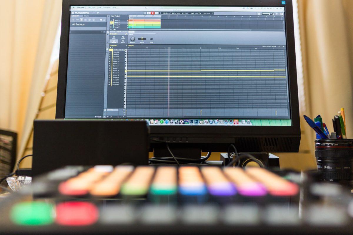 Maschine im Studio