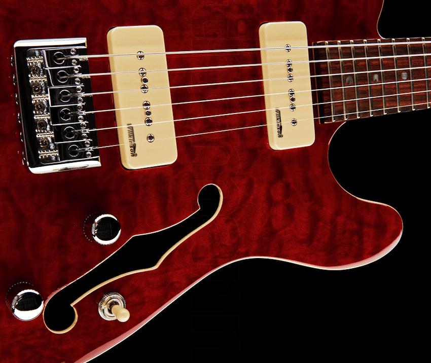 Test: Harley Benton TE-90QM Trans Red, E-Gitarre - AMAZONA de