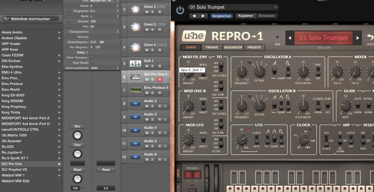 Der RePro-1 auf meinem heimischen Rechner