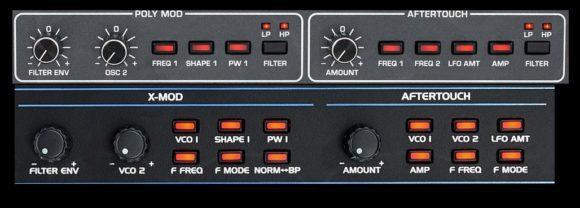 Poly-Mod des Prohpet 6 Filters (durch OSC2 oder Filter-ENV) bietet weniger Klangfarben.
