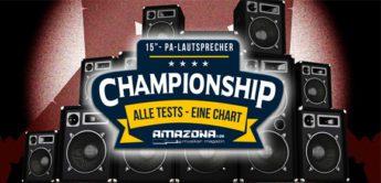 Championship: Die besten 15-Zoll PA-Aktivlautsprecher