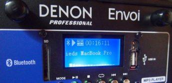 Test: Denon Envoi, Akkulautsprecher Aktivboxen
