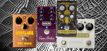 Vergleichstest: MXR Super Badass Variac Fuzz, Way Huge Havalina, Red Witch The FUZZ GOD II und DOD Carosa Fuzz, Fuzzpedale