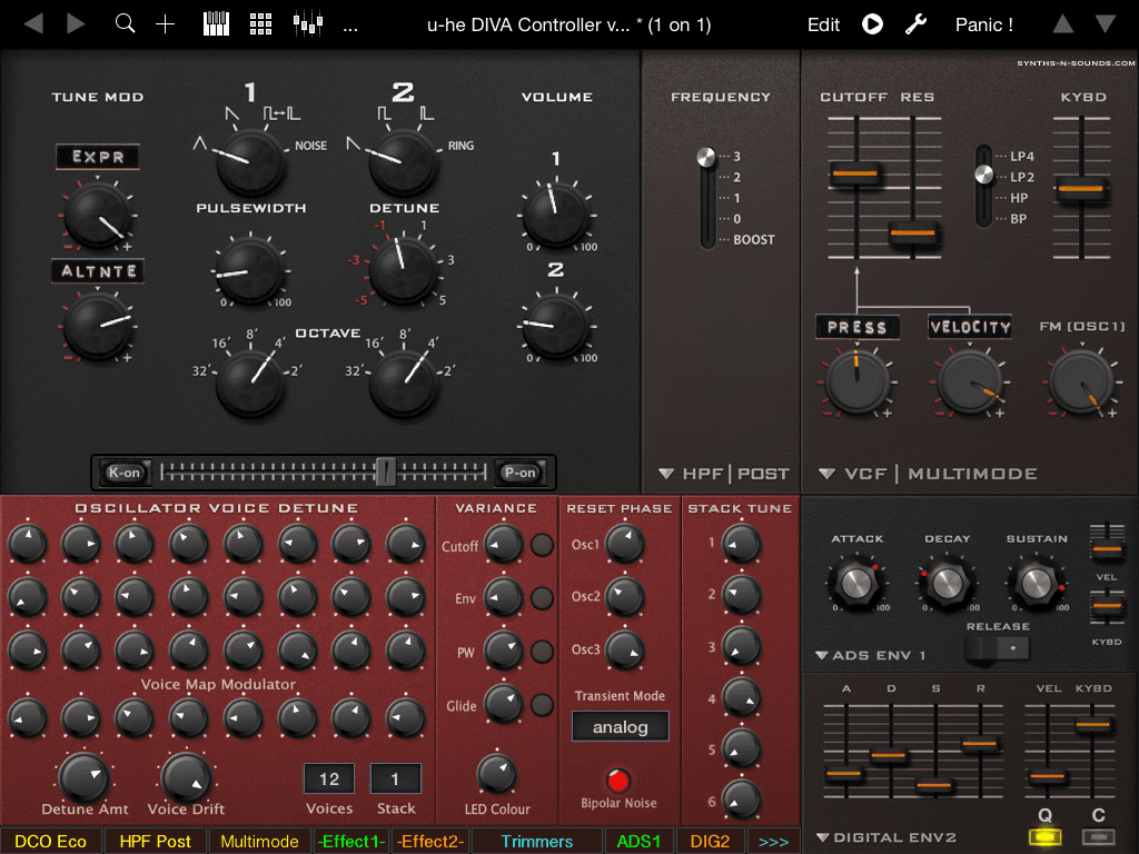 Report ipad controller f r freeware synthesizer tyrell - U he diva ...