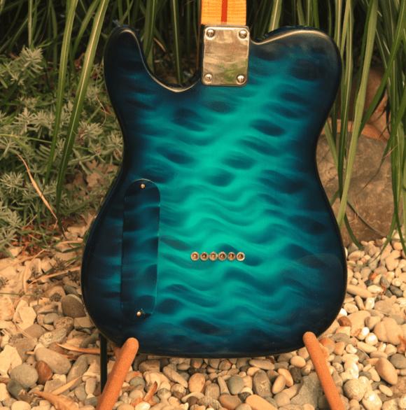 Pearlvibe Guitars Blue Bayou back