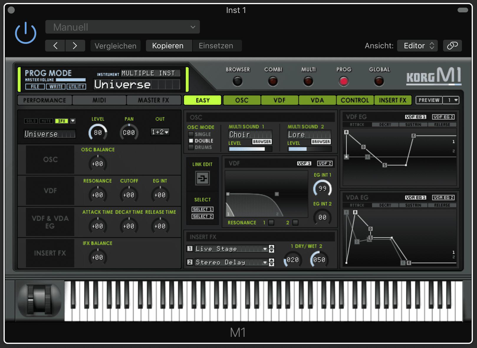 Green Box: Korg M1 bis T1, T2, T3 und M1Rex Synthesizer - AMAZONA de
