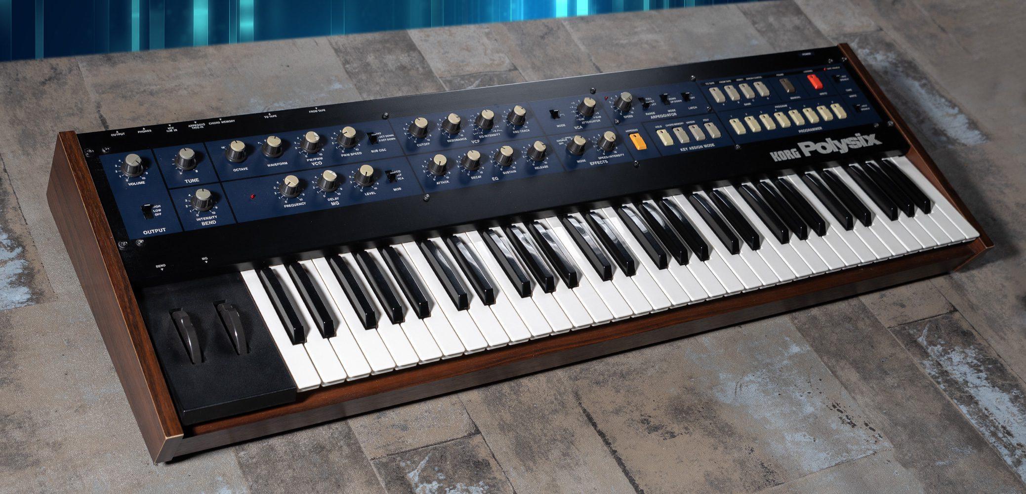 Korg Polysix (mit CHD P6-KBD MIDI upgrade)