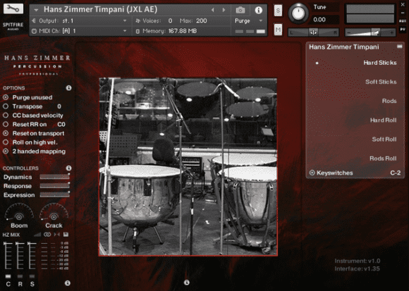 hans zimmer percussion professional