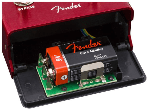 Fender Santa Ana Overdrive battery slot
