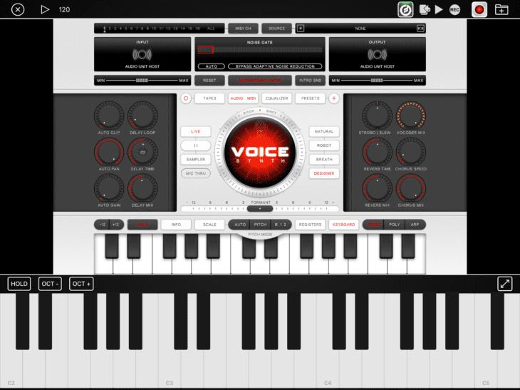 Audiobus 3.1 AU Vollbildmodus mit Keyboard