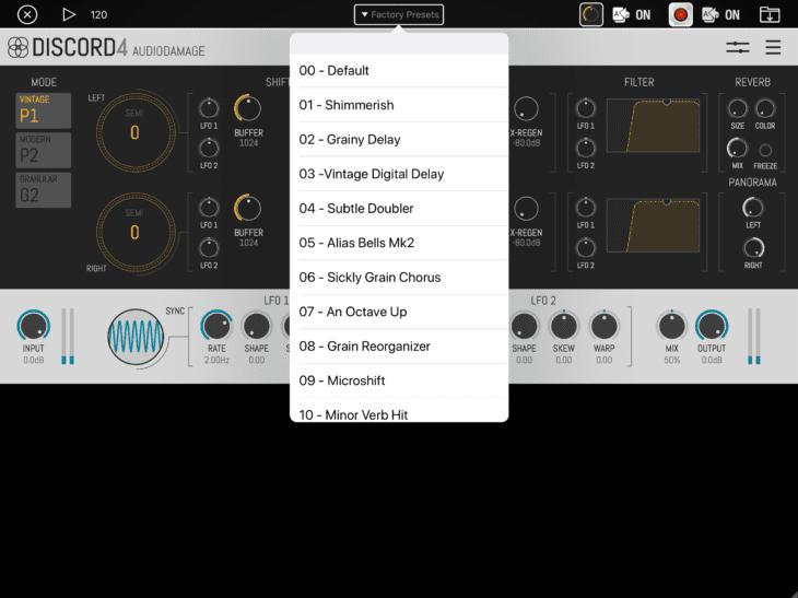 Audiobus 3.1 AU-Presets