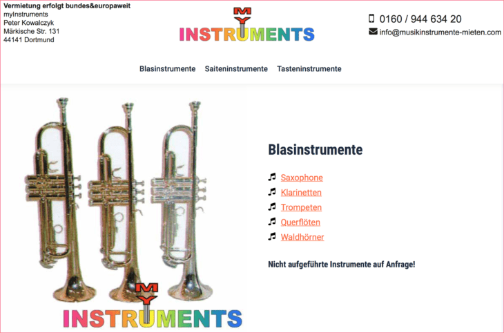 Musik Equipment mieten