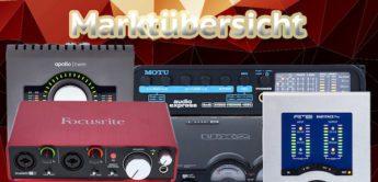 Marktübersicht Audiointerfaces für Gitarre