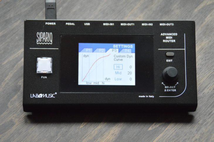 Lab4Music Sipario - Velocity Curve