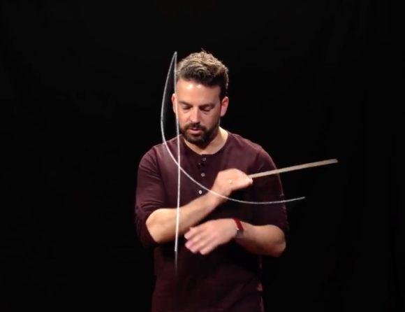 Die Handbewegungen des Dirigenten