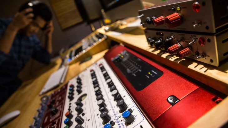 Vorbereitungen für die Audiomischung