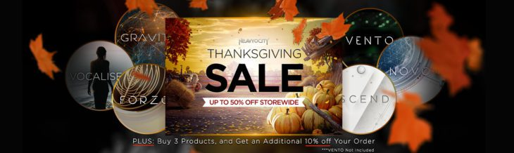 heavyocity thanksgiving black friday sale