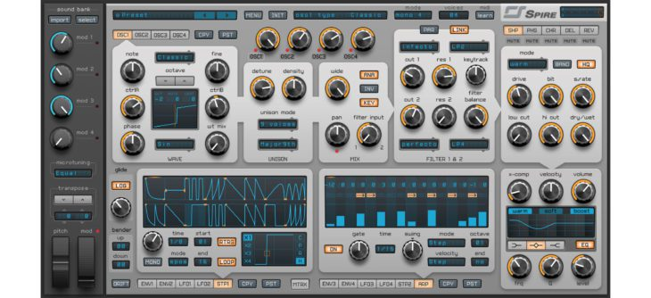 reveal sound spire synthesizer software