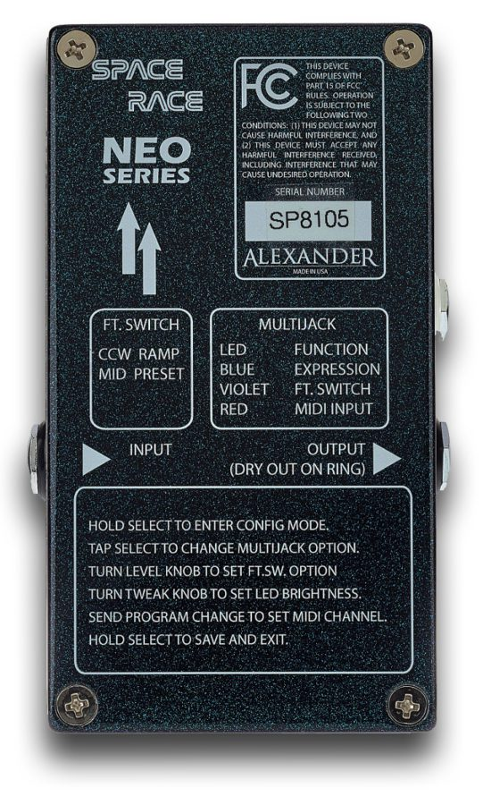 Alexander Pedals Space Race bottom